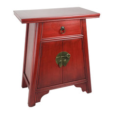 Wayborn Home Furnishing Inc   Alter Cabinet, Red   Accent Chests And  Cabinets