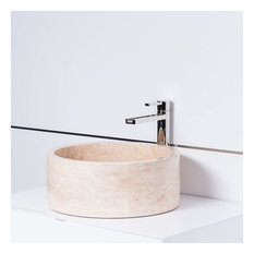 Koh Samui Natural Stone Luxury Vessel Sink, Sandstone Beige