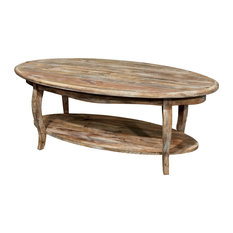 Merveilleux 1st Avenue   Isaac Rustic Reclaimed Driftwood Oval Coffee Table   Coffee  Tables