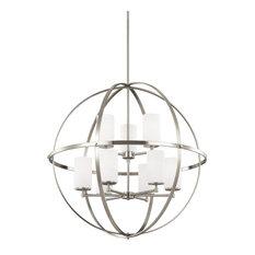 Sea Gull Lighting 9-Light Chandelier, Incandescent, Brushed Nickel