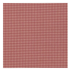 """French Country Crimson Gingham Decorative Throw Pillow, 16"""" X 16"""" Ruffled"""