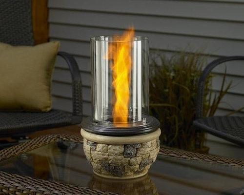 Ledgestone Indoor/Outdoor Tabletop Fireplace - Tabletop Fireplaces - Outdoor Tabletop Fireplaces