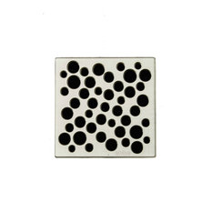 Unique Grate Bubbles Drain, Brushed Nickel