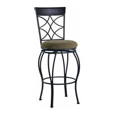 Linon Curves 24-inch Metal Counter Stool In Dark Brown