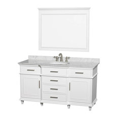 Single Bathroom Vanity Set in White With Undermount Oval Sink