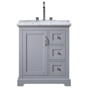 "Eviva Houston 30"" Gray Bathroom Vanity"