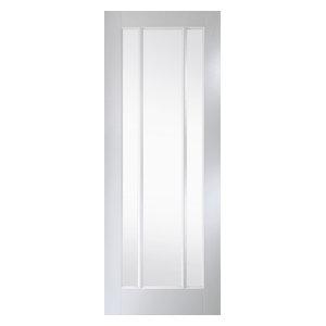 Worcester 3-Panel Clear Glazed Interior Door, 84x199 cm