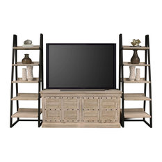 Parker House Praire PRA68-2 Console With Pair Of Etagere Bookcase Piers