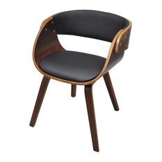 vidaXL - vidaXL Dining Chair With Padded Bentwood Seat - Dining Chairs