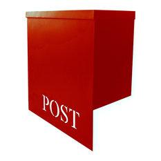 NACH - Stanley Iron Mailbox, Red - Mailboxes