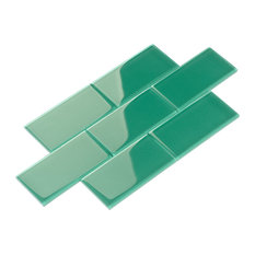 "3""x6"" Subway Collection, Set of 44, Emerald Green"