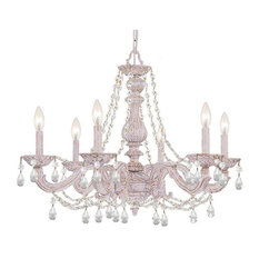 Crystorama Lighting 5026-AW-CL-MWP Sutton Transitional, Eclectic Chandelier