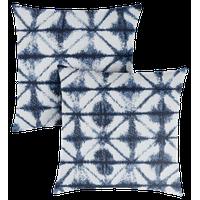 Sunbrella Carrington Indigo Geometric Outdoor Square Pillow, Set of 2
