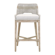 """Tapestry 30"""" Barstool, Taupe & White Flat Rope"""