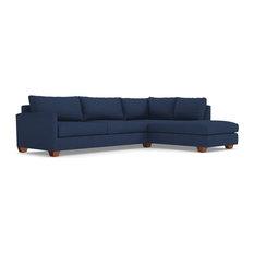 Apt2B - Tuxedo 2-Piece Sectional Sleeper Sofa, Blue Jean, Chaise on Left - Sleeper Sofas