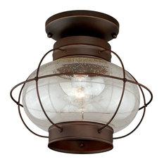 Vaxcel Lighting T0145 Chatham 1 Light Semi-Flush Mount Outdoor Ceiling Light