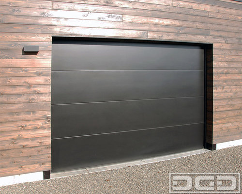 Minimalist Designed Modern Garage Doors For A San