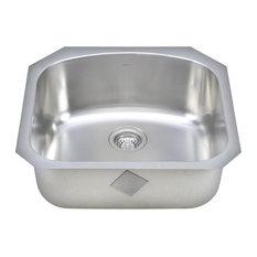 "Wells Sinkware 23"" D-shaped Sink"