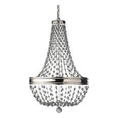 Malia Eight Light Chandelier Polished Nickel Clear Bead Crystal