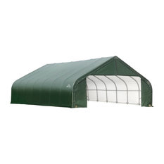 30'x24'x16' Peak Style Shelter, Green Cover