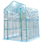 Outsunny - Outsunny 5'x5'x6' Portable Walk In Garden Steeple Greenhouse - Are you a home gardening enthusiast who is looking for a way to stay in the soil year-round? Why not try our Outsunny 3 tier outdoor portable walk-in hexagonal greenhouse kit? It provides the protective surroundings that you seek, without having to spend exorbitant amounts of money, and is the perfect solution for the dedicated gardeners out there who want to keep their plants safe and secure throughout the colder and hotter months of the year.