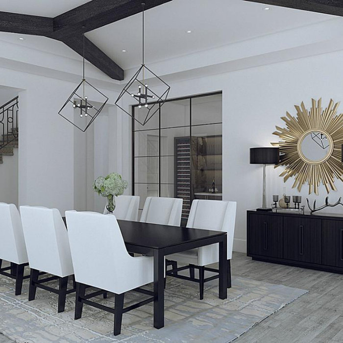 Example of a transitional dining room design in DC Metro