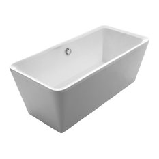 Cubic Style Double Ended Freestanding Bathtub