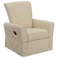 Smooth Back Manual Recliner Glider, Oatmeal Beige