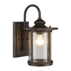 Cole Transitional 1-Light Rubbed Bronze Outdoor Wall Sconce