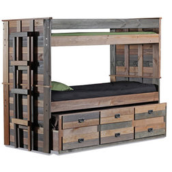Rustic Bunk Beds by Totally Kids fun furniture & toys