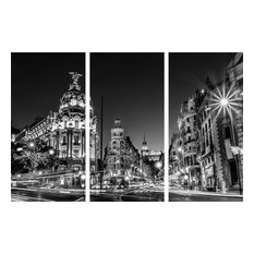3-Pc Traffic Painting in Black and White