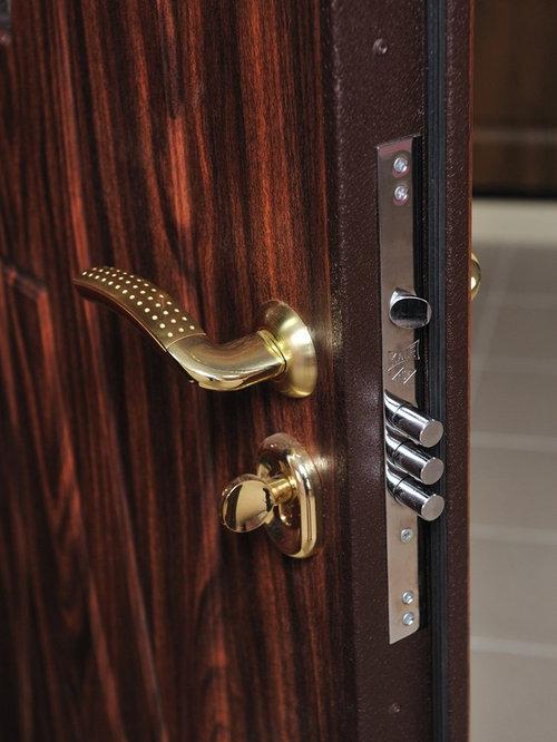 Modern Front Entry Door 3 Point Security Lock System   Door Locks