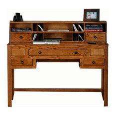 eagle furniture oak ridge writing desk w hutch dark oak dark