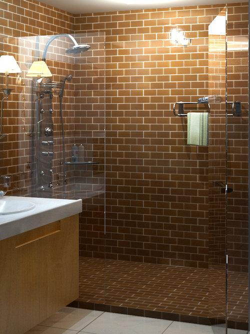 3x6 subway glass backsplash tile kitchen bath wall brown