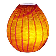 Loft Orange Squamato Murano Glass Table Lamp