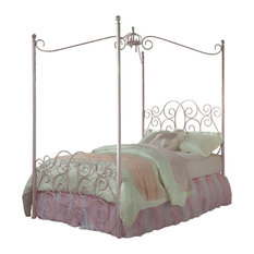 Standard furniture - Standard Furniture Princess Canopy Bed in Pink Metal - Full - Canopy Beds