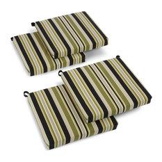 """20""""x19"""" Spun Polyester Chair Cushion, Set of 4, Capri"""