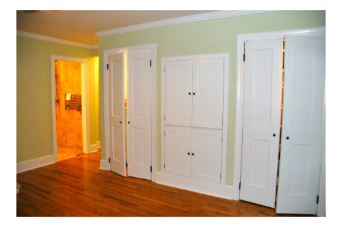 Should I Paint My Closet Doors The Same Color As Wall Or