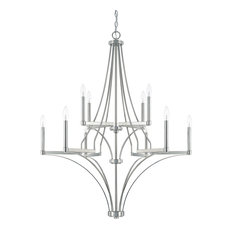 Capital Lighting Wright Polished Nickel 10-Light Chandelier