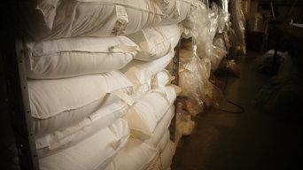 All white gel fiber pillows