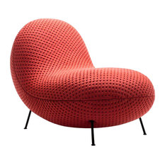 BaBa Modern Upholstered Accent Chair, Red
