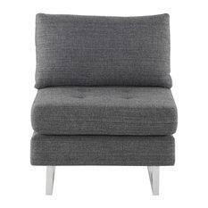 Thomas Dark Grey Tweed Sofa Extension