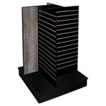 FDF Reception Counter Solutions - Memphis style 4 Sided Slat Wall - Memphis style 4 Sided Slat Wall