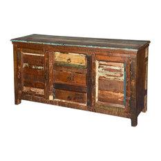 Armenia Reclaimed Wood 3 Drawer Rustic Sideboard