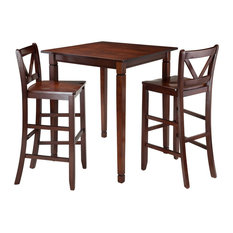 Kingsgate 3-Piece, Dining Table With 2 Bar V-Back Chairs