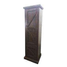 American Heartland   Rustic Single Door Armoire, Rustic Antique Black    Armoires And Wardrobes