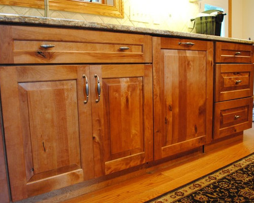 Nice Rustic Birch Kitchen Cabinetry