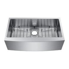 "Starstar 36"" Undermount  Farmhouse Apron Stainless Single Bowl Kitchen Sink"