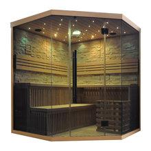 Traditionella bastu med ljusdesign