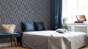 Superfresco Colours Vittorio Geo - Navy/ Geometric Wallpaper